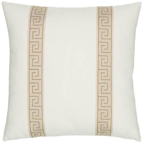 "Elaine Smith Balkan Key 20"" Square Indoor-Outdoor Pillow"