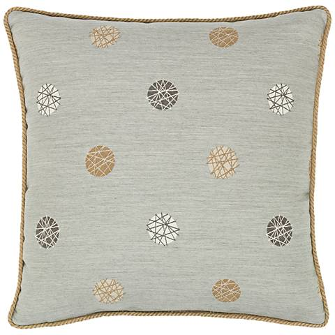 "Celestial Silver 20"" Square Indoor-Outdoor Pillow"