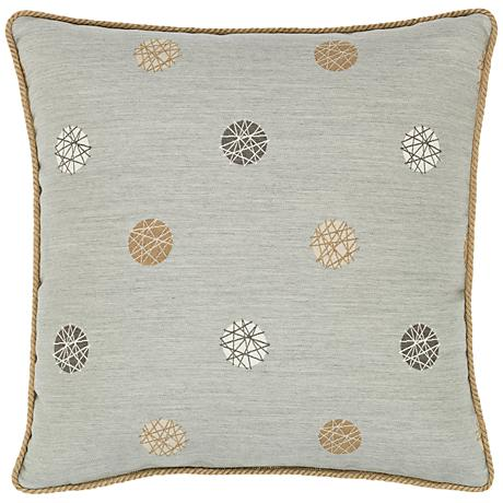 """Celestial Silver 20"""" Square Indoor-Outdoor Pillow"""