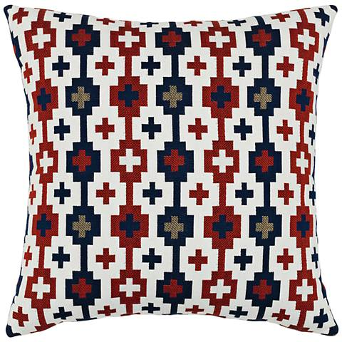 "Canyon Cross Lodge 20"" Square Indoor-Outdoor Pillow"