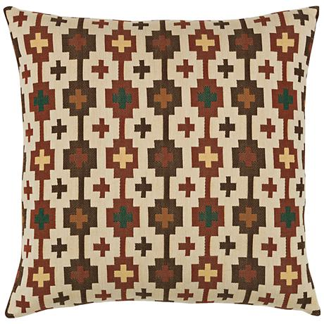 """Canyon Cross Forest 20"""" Square Indoor-Outdoor Pillow"""