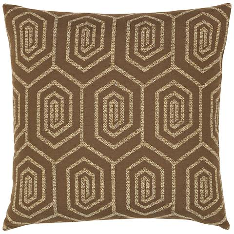 "Elaine Smith Function Geo 20"" Square Indoor-Outdoor Pillow"