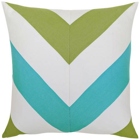 "Poolside Chevron 20"" Square Indoor-Outdoor Pillow"