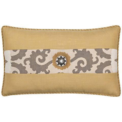 "Jeweled Sedona Gold 20""x12"" Indoor-Outdoor Pillow"