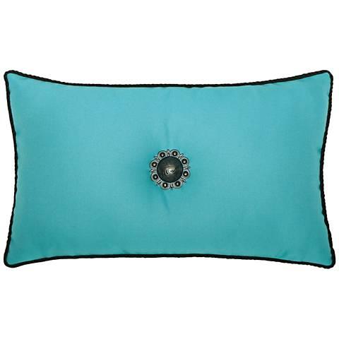 """Jeweled Aruba Corded 20""""x12"""" Lumbar Indoor-Outdoor Pillow"""