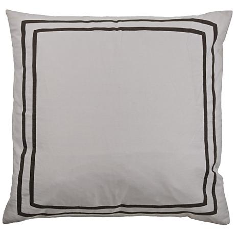 Lark Flanged Gray Euro Pillow Sham