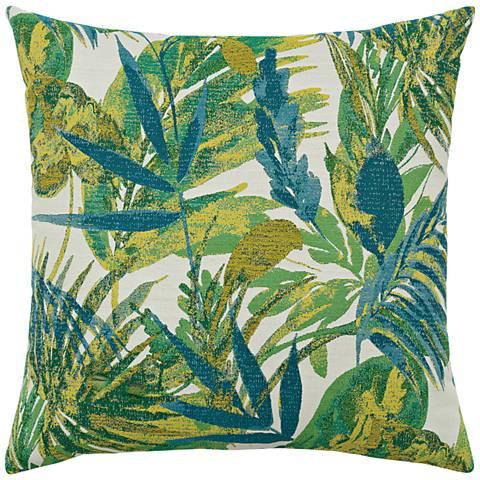 "Elaine Smith Eden Botanical 20"" Square Indoor-Outdoor Pillow"