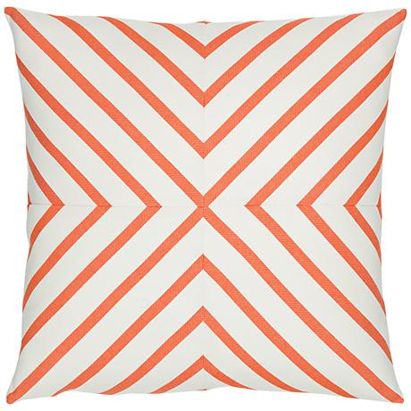 "Provence Stripe 20"" Square Indoor-Outdoor Pillow"