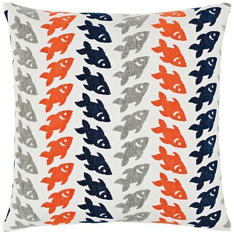 "Elaine Smith Oceana Marine 20"" Square Indoor-Outdoor Pillow"
