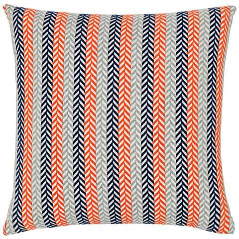 """Plush Plume Marine 20"""" Square Indoor-Outdoor Pillow"""