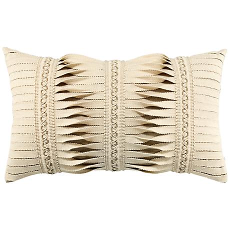 "Gladiator Ivory 20""x12"" Lumbar Indoor-Outdoor Pillow"