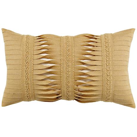 """Gladiator Wheat 20""""x12"""" Lumbar Indoor-Outdoor Pillow"""