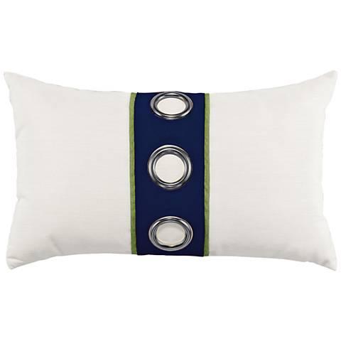 """Navy Cruise 20""""x12"""" Lumbar Indoor-Outdoor Pillow"""