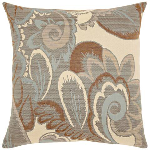 "Elaine Smith Floral Mist 20"" Square Indoor-Outdoor Pillow"
