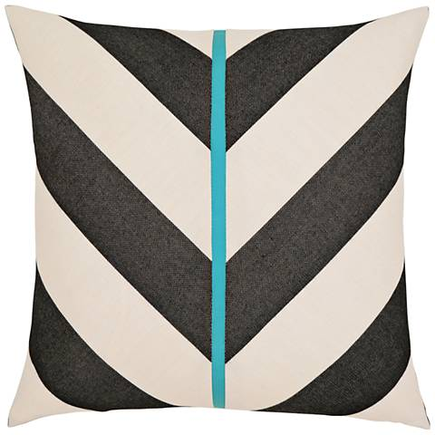 "Harmony Chevron 20"" Square Indoor-Outdoor Pillow"