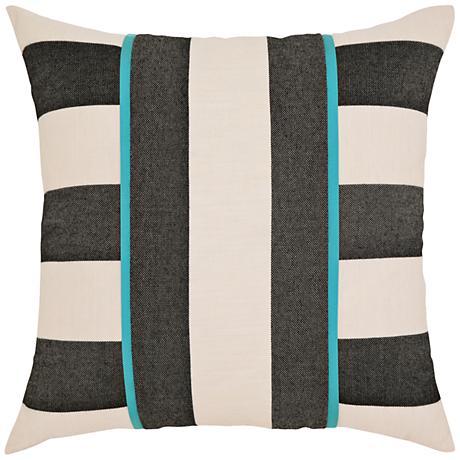 """Elaine Smith Harmony Stripe 20"""" Square Indoor-Outdoor Pillow"""