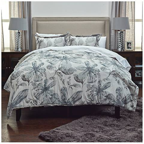 Lark Gray 3-Piece Comforter Set