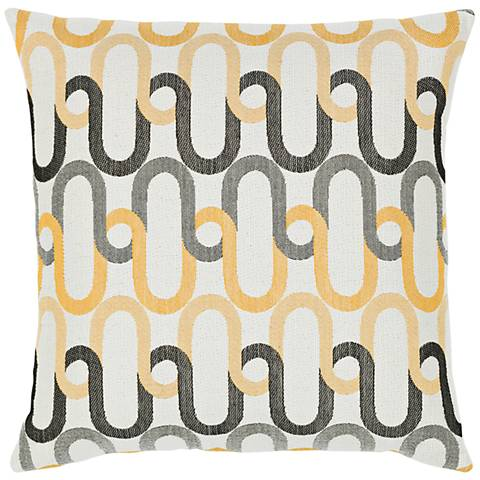 "Elaine Smith Shadow Link 20"" Square Indoor-Outdoor Pillow"