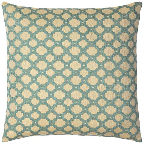 """Elaine Smith Octagon Spa 20"""" Square Indoor-Outdoor Pillow"""
