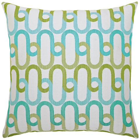 "Elaine Smith Poolside Link 20"" Square Indoor-Outdoor Pillow"