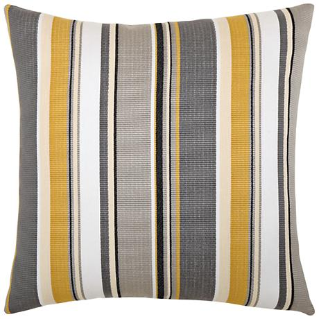 """Elaine Smith Shadow Stripe 20"""" Square Indoor-Outdoor Pillow"""