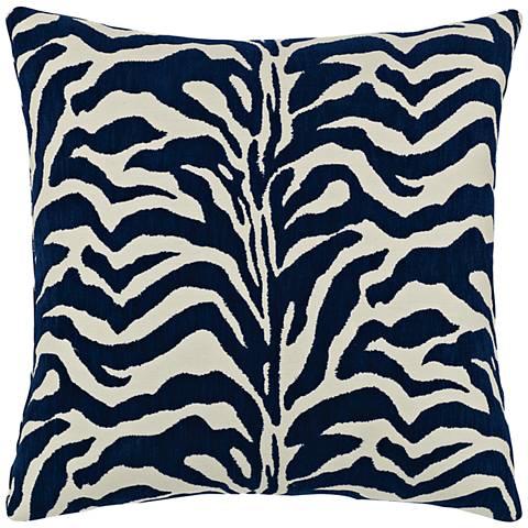 "Elaine Smith Zebra Marine 20"" Square Indoor-Outdoor Pillow"