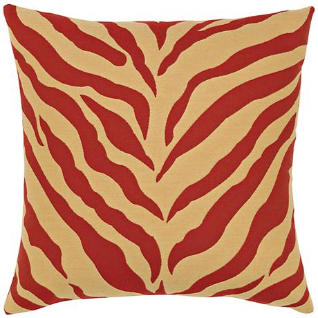 "Elaine Smith Zebra Royale 20"" Square Indoor-Outdoor Pillow"