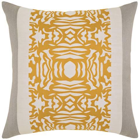 "Elaine Smith Metallic Block 22"" Square Indoor-Outdoor Pillow"