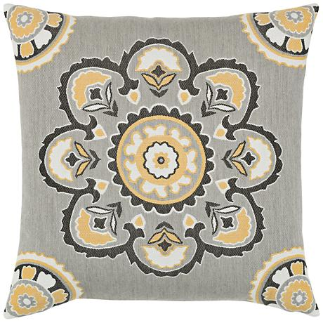 """Bukhara Eclipse 22"""" Square Indoor-Outdoor Pillow"""