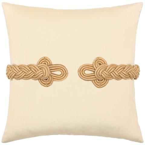 "Golden Frog's Clasp 19"" Square Indoor-Outdoor Pillow"