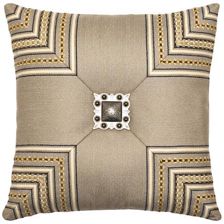 "Sedona Mitered Cross 19"" Square Indoor-Outdoor Pillow"
