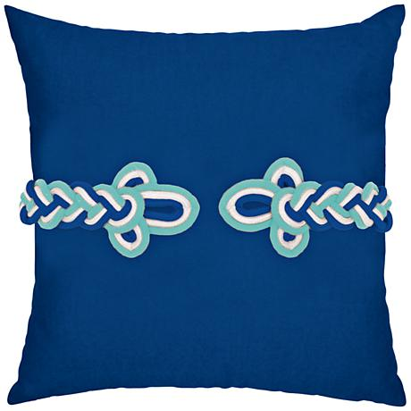 """Cobalt Frog's Clasp 19"""" Square Indoor-Outdoor Pillow"""