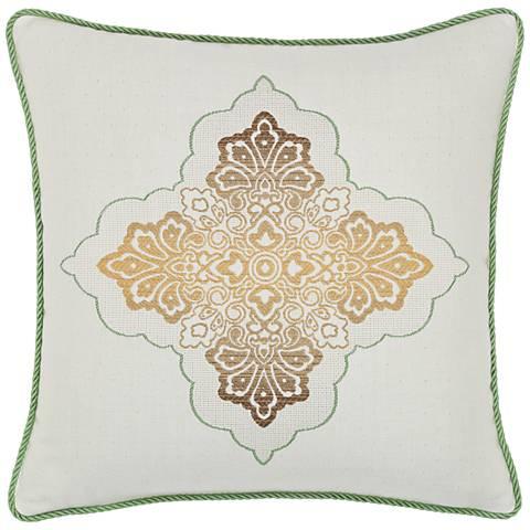 """Tierra Medallion 20"""" Square Indoor-Outdoor Pillow"""