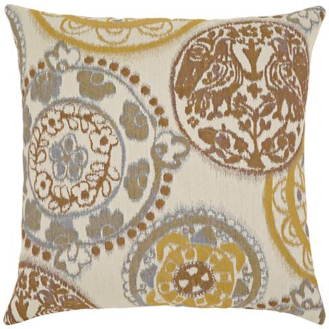 "Elaine Smith Raya Waters 20"" Square Indoor-Outdoor Pillow"