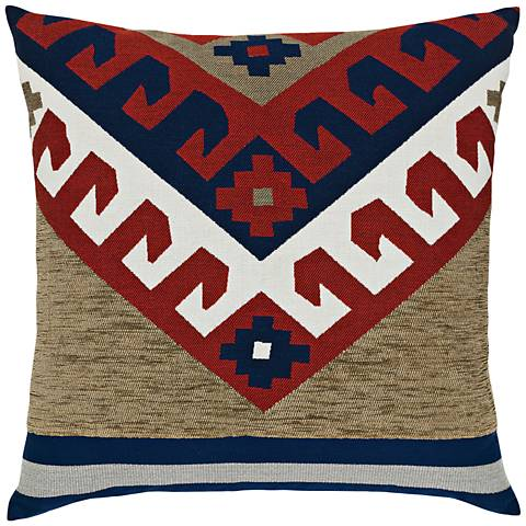 "Canyon Peak Lodge 22"" Square Indoor-Outdoor Pillow"