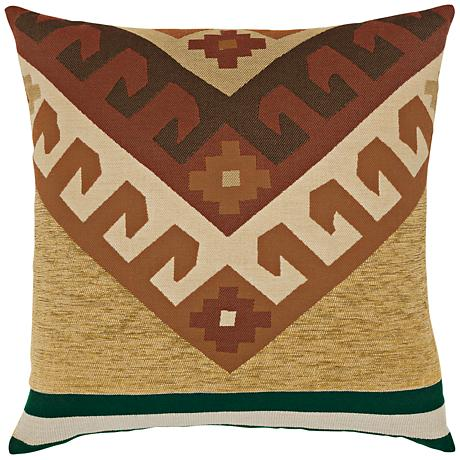 """Canyon Peak Forest 22"""" Square Indoor-Outdoor Pillow"""
