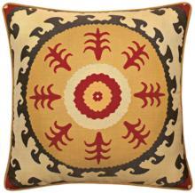 "Elaine Smith Suzani Sun 22"" Square Indoor-Outdoor Pillow"