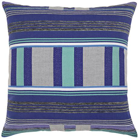 "Gradient Stripe 22"" Square Indoor-Outdoor Pillow"