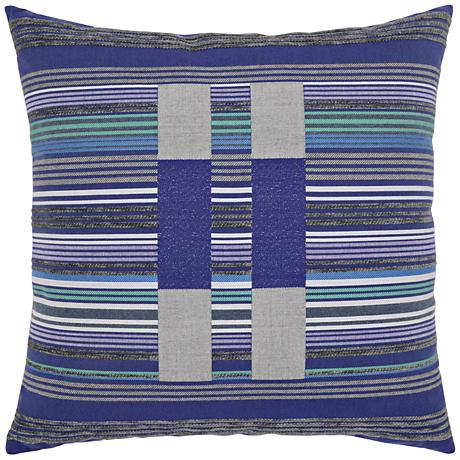 "Elaine Smith Gradient Block 22"" Square Indoor-Outdoor Pillow"