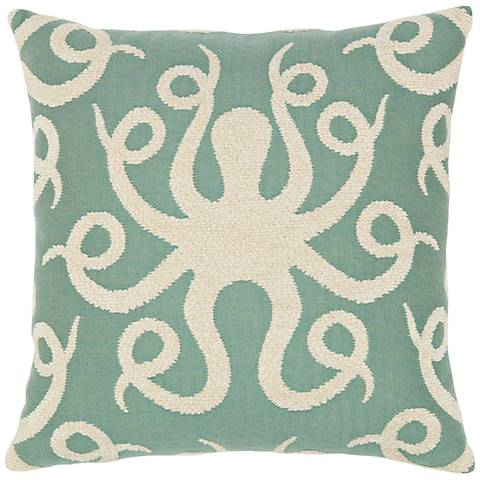 "Elaine Smith Octoplush Spa 20"" Square Indoor-Outdoor Pillow"