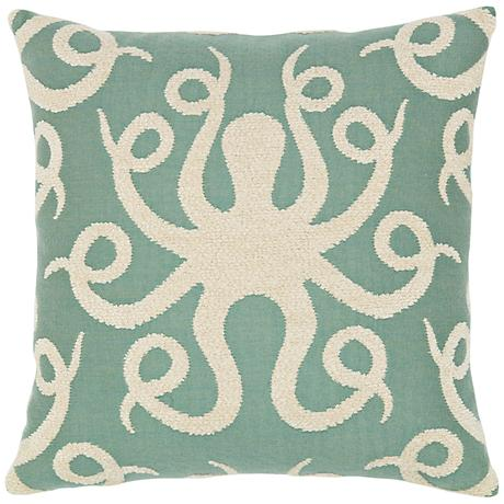 """Elaine Smith Octoplush Spa 20"""" Square Indoor-Outdoor Pillow"""