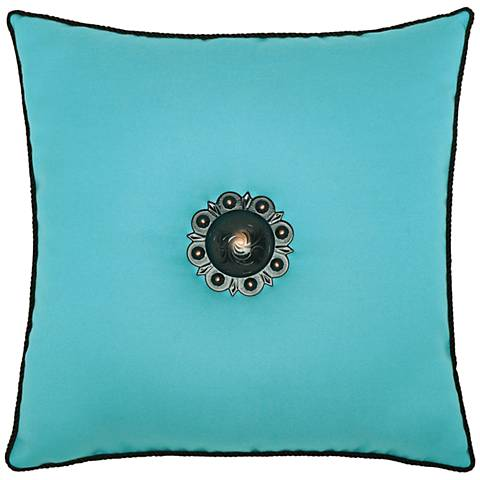 "Jeweled Aruba Corded 20"" Square Indoor-Outdoor Pillow"