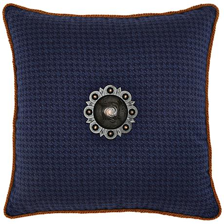 """Houndstooth Midnight 20"""" Square Indoor-Outdoor Pillow"""