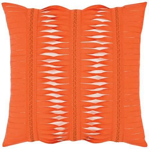 "Gladiator Coral 20"" Square Indoor-Outdoor Pillow"