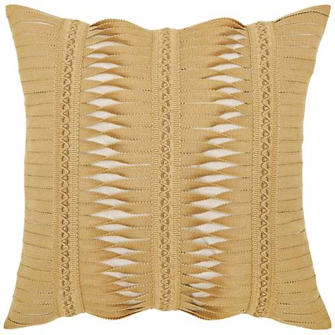 "Gladiator Wheat 20"" Square Indoor-Outdoor Pillow"