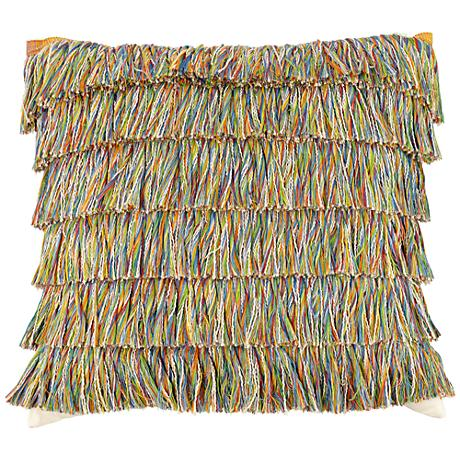 """Elaine Smith Hula 20"""" Square Indoor-Outdoor Pillow"""