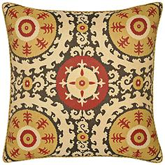 "Elaine Smith Suzani 22"" Square Indoor-Outdoor Pillow"