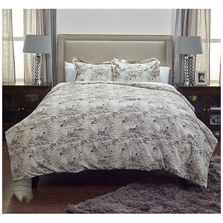Vintage Butterfly Gray 3-Piece Comforter Set