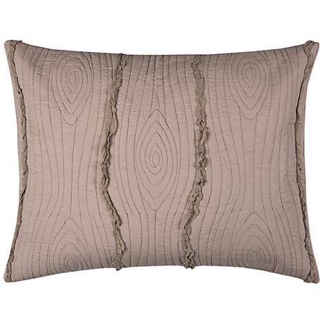 Calavera Blush Pink Quilted King Pillow Sham