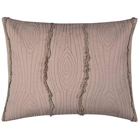 Calavera Blush Pink Quilted Standard Pillow Sham